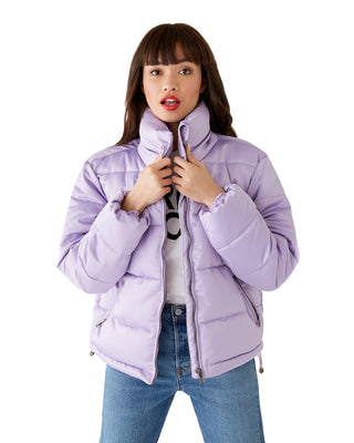 lilac puffer jacket