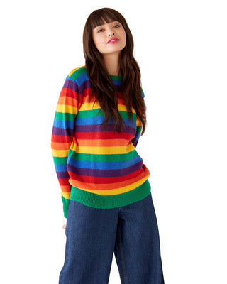 glitter rainbow sweater