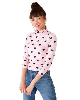 little heart high neck top