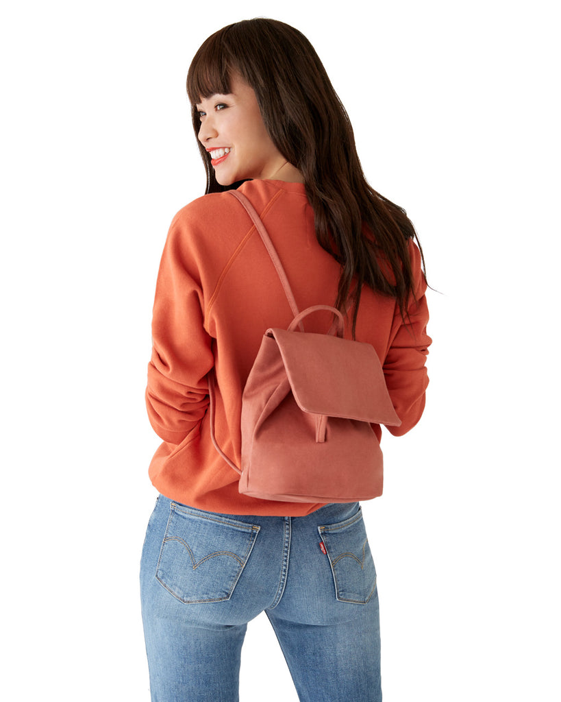 Canvas Mini Backpack - Terracotta