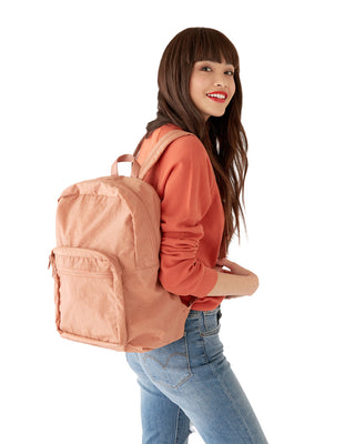 school backpack - terracotta