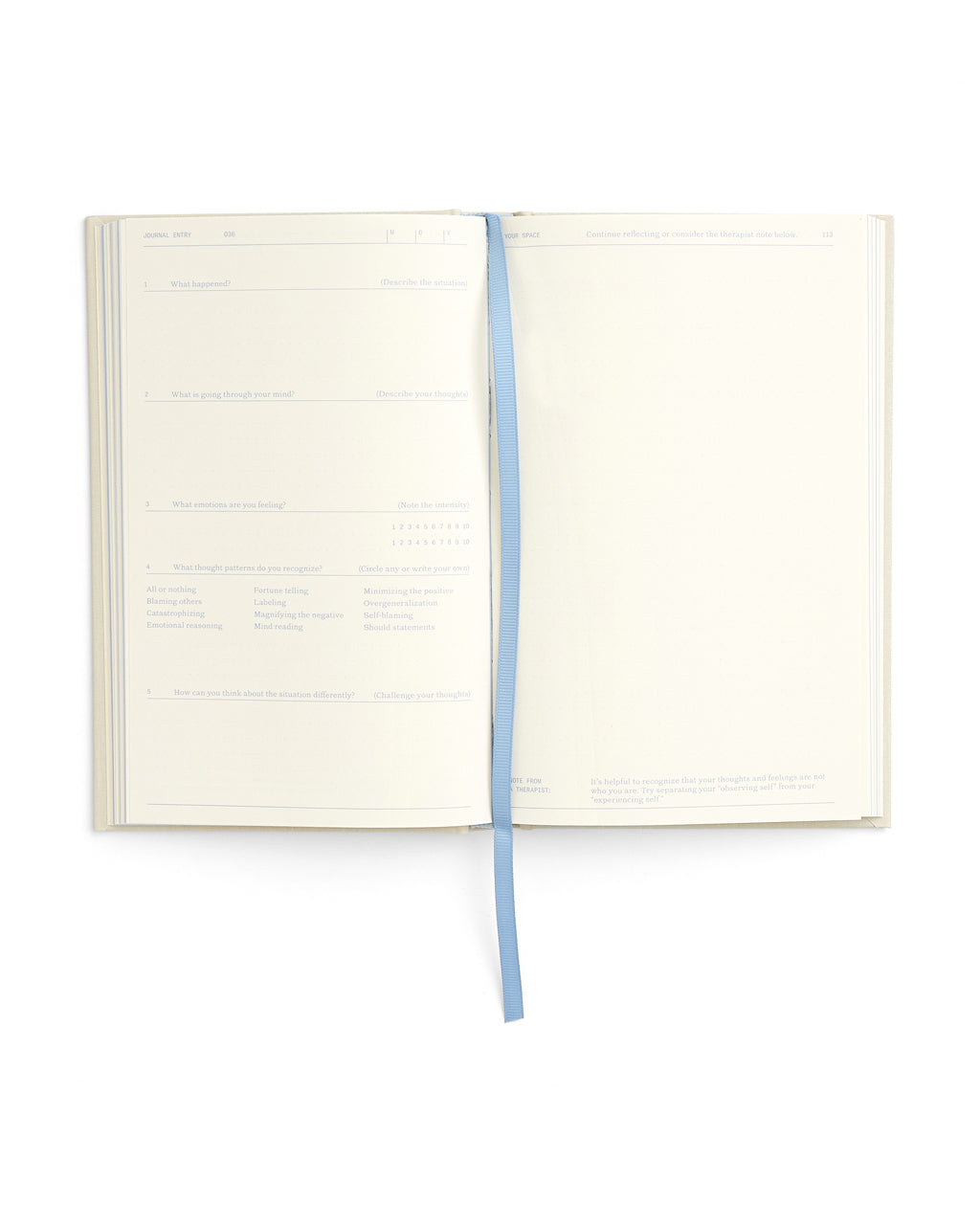 interior image of anxiety notebook