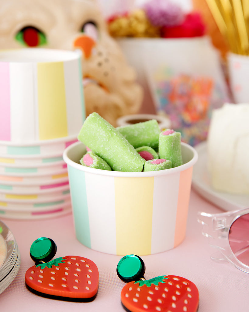 Stripe Ice Cream & Candy Cups