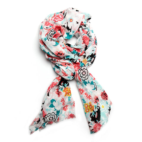 that's a wrap ban.do scarf - florabunda