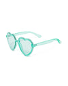 translucent blue heart sunglasses