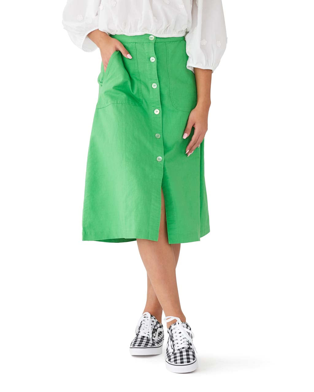 bd506eff5c Rosemary Button Skirt - Kermit Green by rachel antonoff - skirt - ban.do