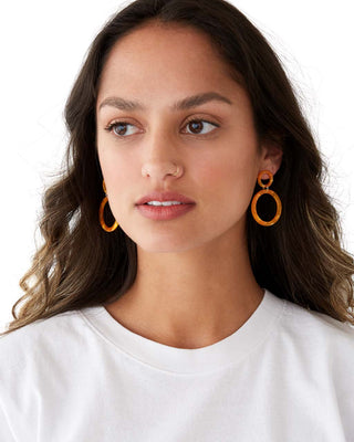Sorrento Earrings - Orange
