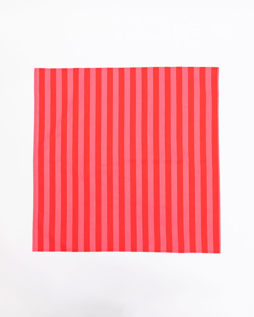 square red and pink stripe bandana