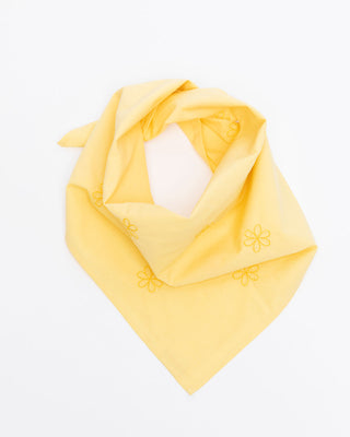 yellow daisy embroidered bandana
