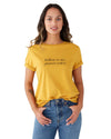This tee comes in yellow, with 'Yellow Is My Power Color' printed in black across the front.