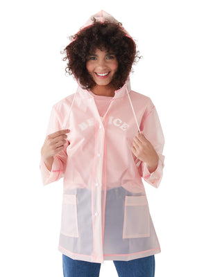 rainy days jacket - translucent pink