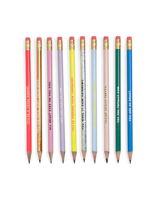 The Compliment Pencil Set features multiple colors and styles.