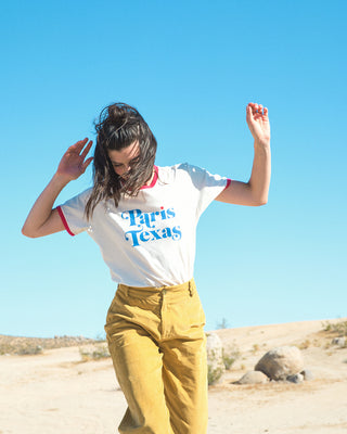 paris texas ringer tee