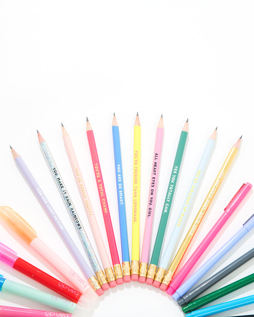 compliment pencil set - assorted set of ten