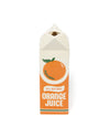 Porcelain orange juice carton-shaped vase