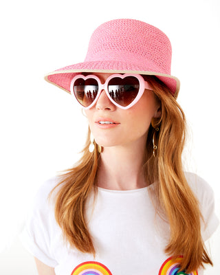 blush pink heart sunglasses