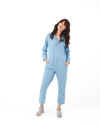 chambray boiler suit