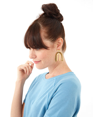 belleza earrings - brass