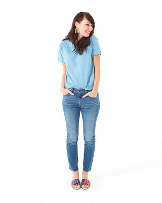 short sleeve sweatshirt - chambray