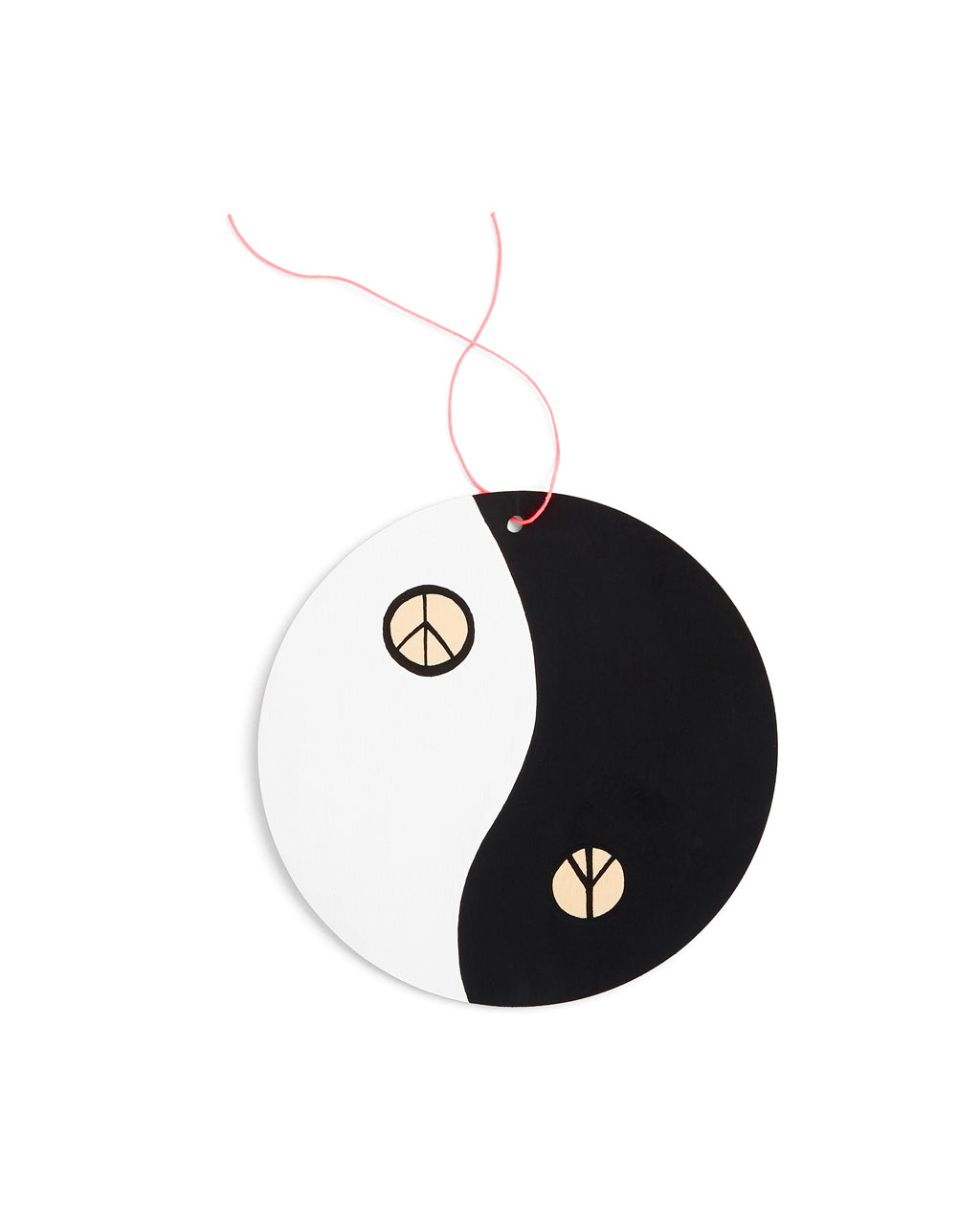 black and white yin yang wall charm