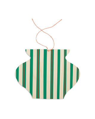 green stripe wall charm