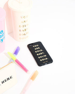leatherette iphone case - you are gold