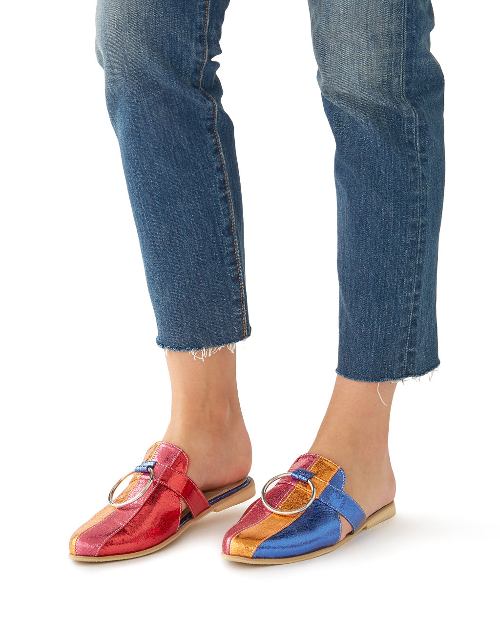 Megan Colorblock Mules