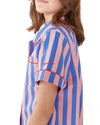 Indigo & Sleepy Pink Short Sleeve Sleep Top