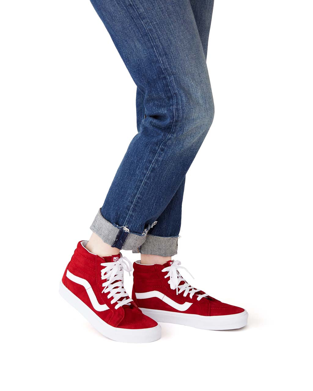 3c23b06b6f0d14 Sk8-Hi - Red Suede by vans - shoes - ban.do