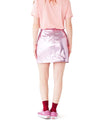 Metallic Pink Mini Skirt