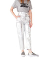 Metallic Silver Trousers
