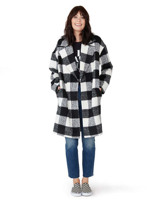 teddy checked coat
