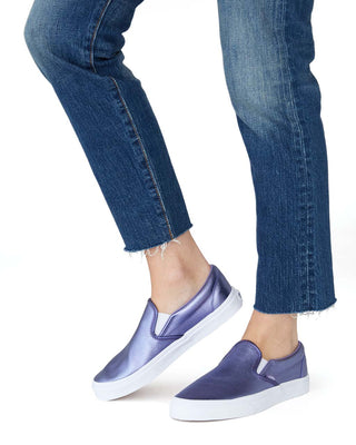 classic slip-on - metallic purple