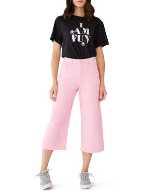 pink wide leg jeans