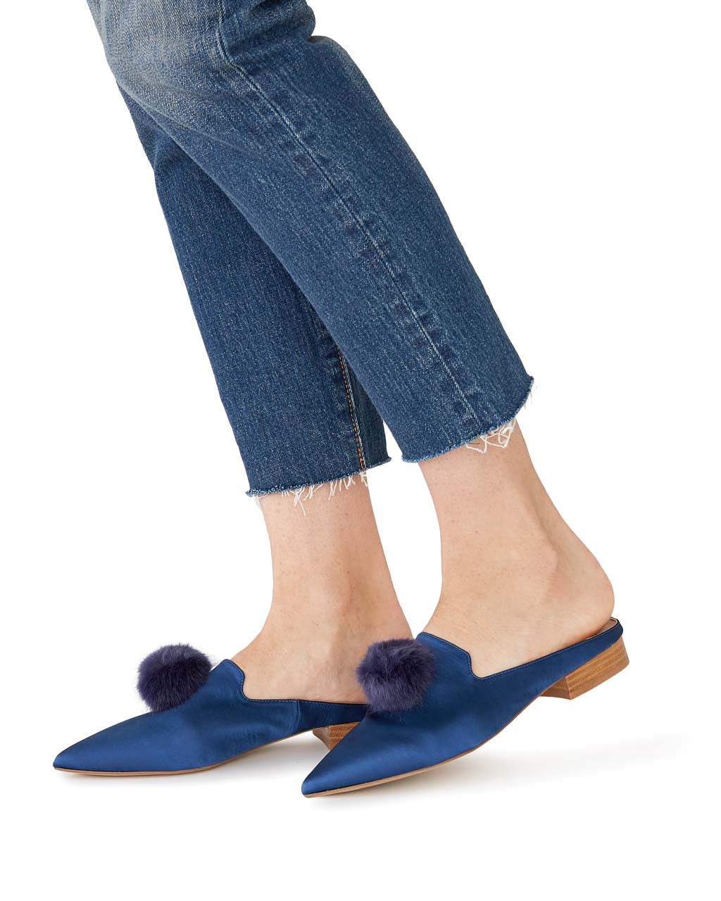 naja slide - navy satin