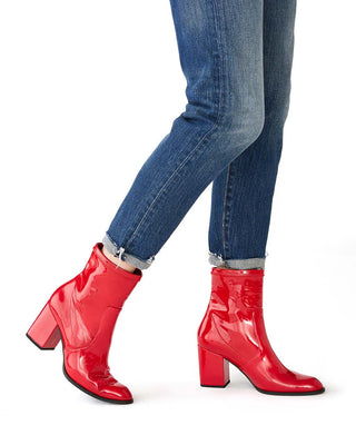 red patent janet boot