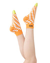 california ankle sock - orange