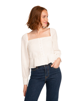 Open Plain Square Neck Top