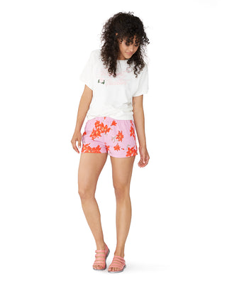 florals on fire shorts