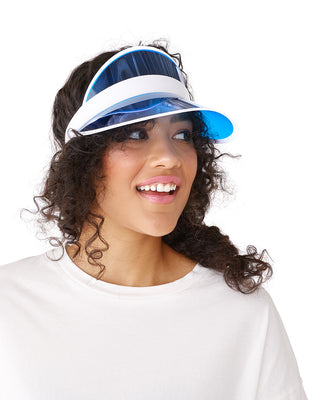 blue party visor