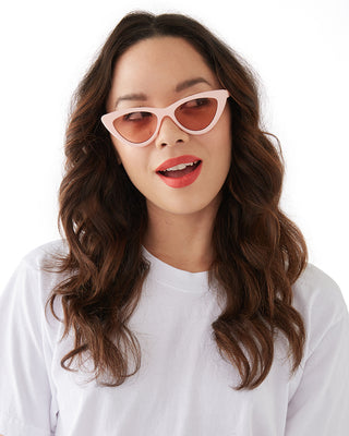 cool cat eye sunglasses - pink