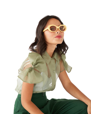 the love tempo sunglasses - mustard