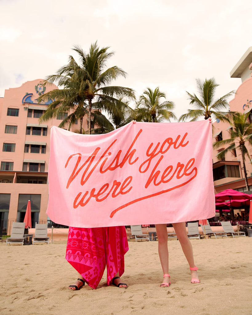 beach, please! giant towel - wish you were here
