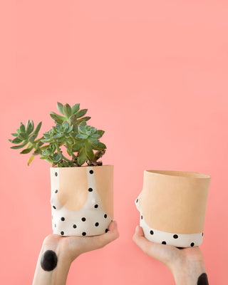 polka dot bathing suit pot