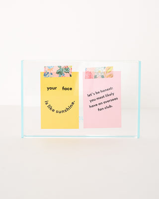 flash tidy acrylic 5x7 frame - blue