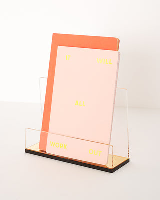 flash gold acrylic mail holder