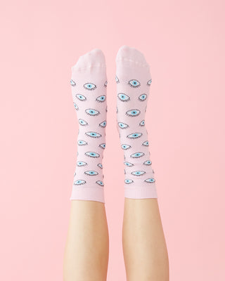 glittery eye socks