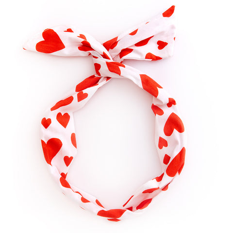 twist scarf - red extreme supercute hearts