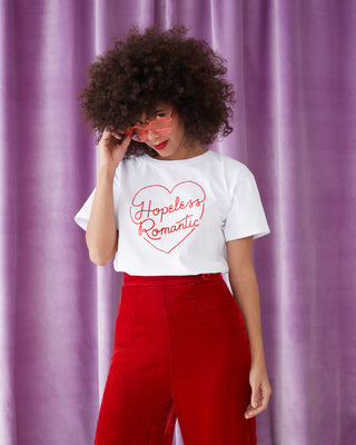 hopeless romantic boxy tee