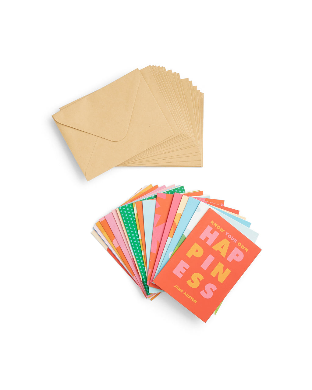 assorted note cards and envelopes